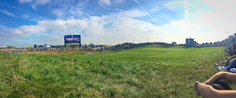Panorama of the 17th hole