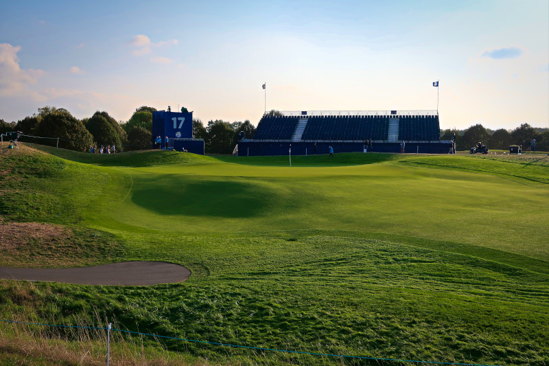 The 17th hole looking towards the green
