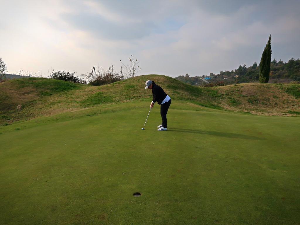 Finishing our day at  Kuşadası International Golf Club