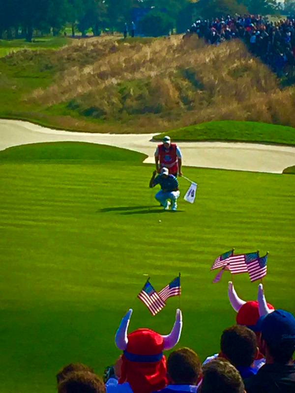 Tiger Woods on the 14th