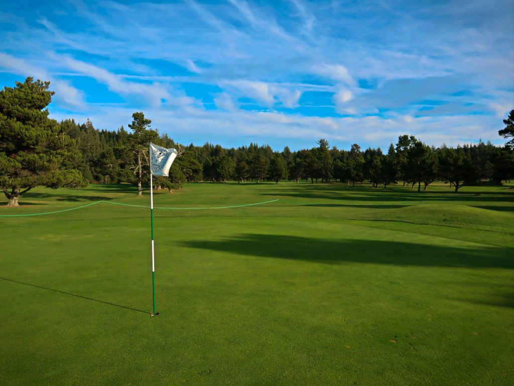 A view of the second green