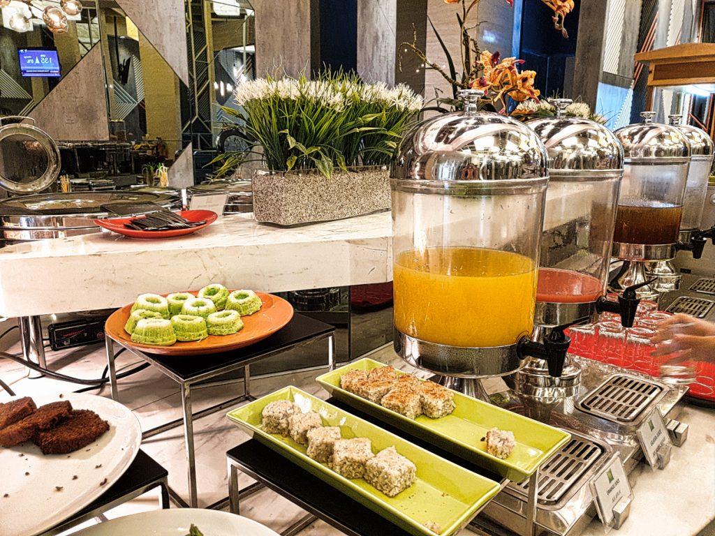 Breakfast at our hotel Lazy Days in Medan, Sumatra