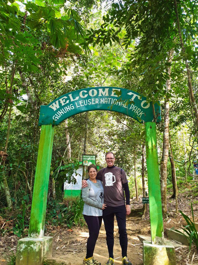 The start of the jungle trek Bukit Lawang Ein besonderes Erlebnis - Orang-Utans