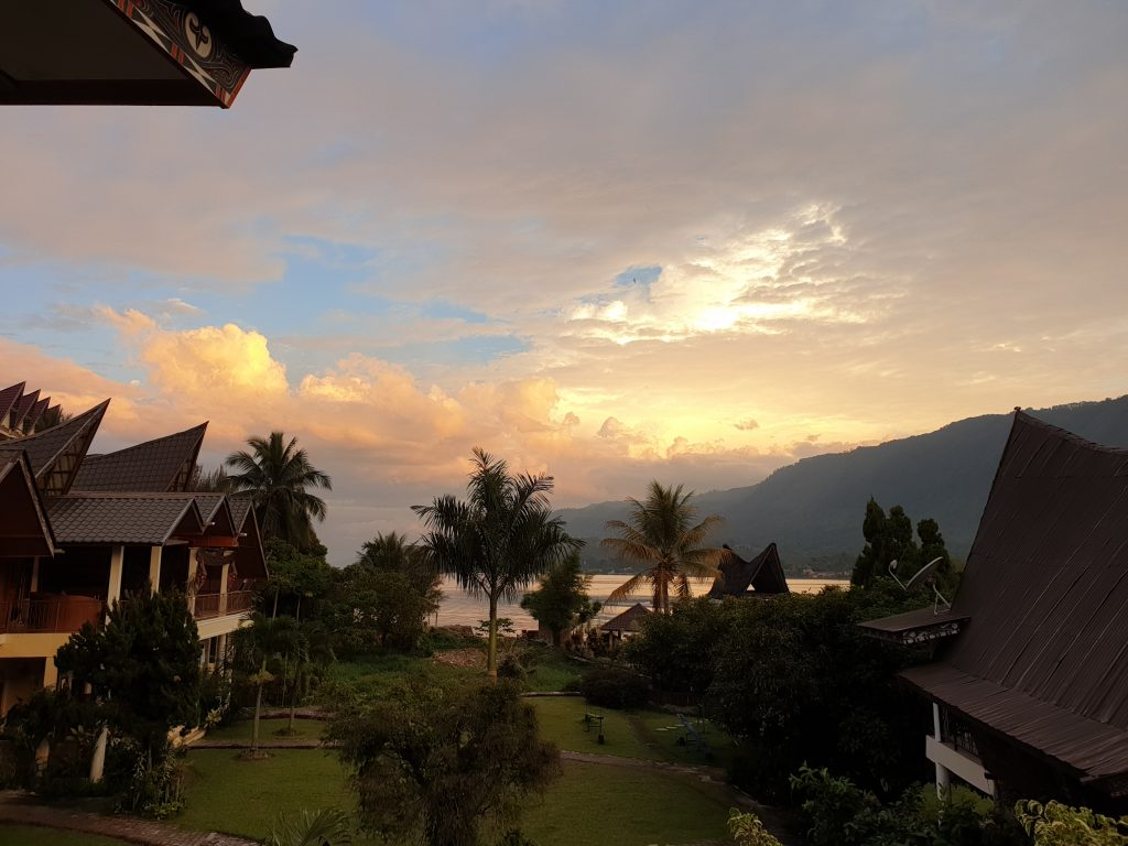 Beautiful sunsets at Lake Toba