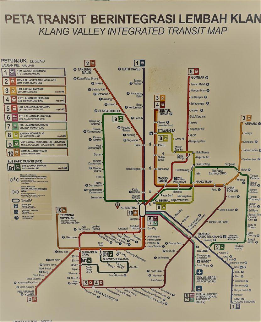 Metro lines in KL 1.Arriving in Kuala Lumpur