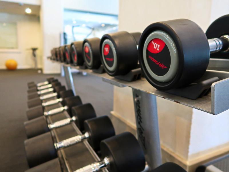 The well-equipped fitness centre