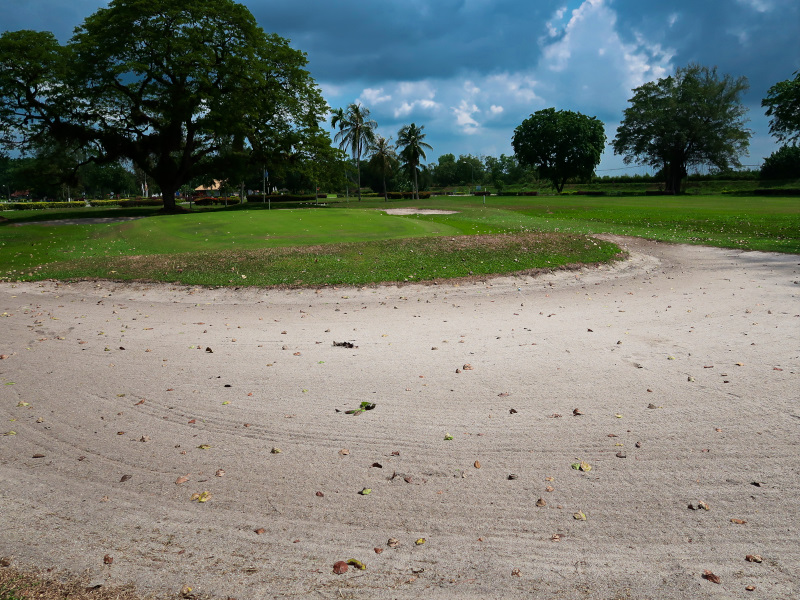 The well protected third green