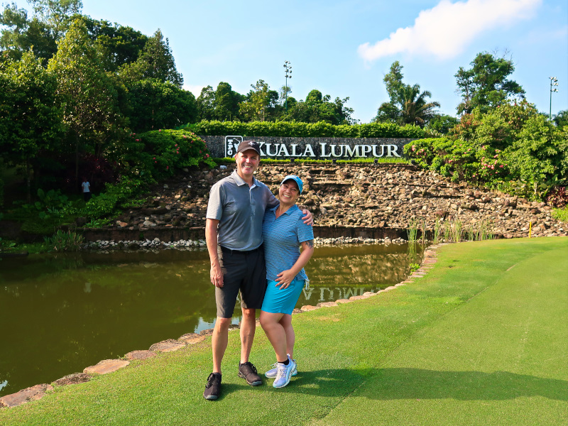 Happy golfers at the TPC KL East Course!