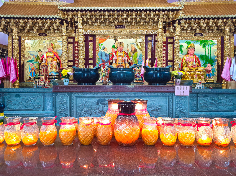 Offerings at the Langkawi Thean Hou Temple