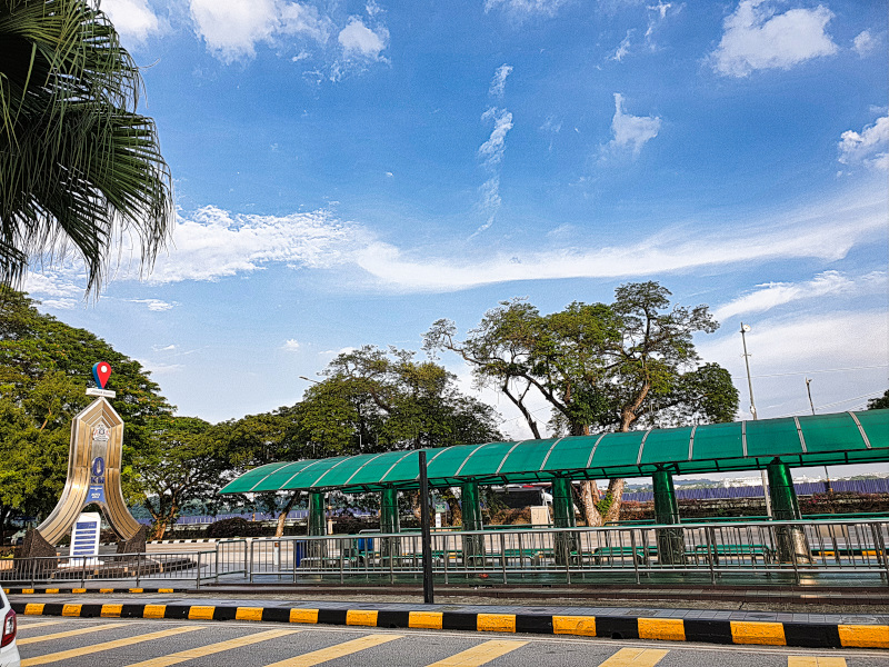 Mileage marker in Johor