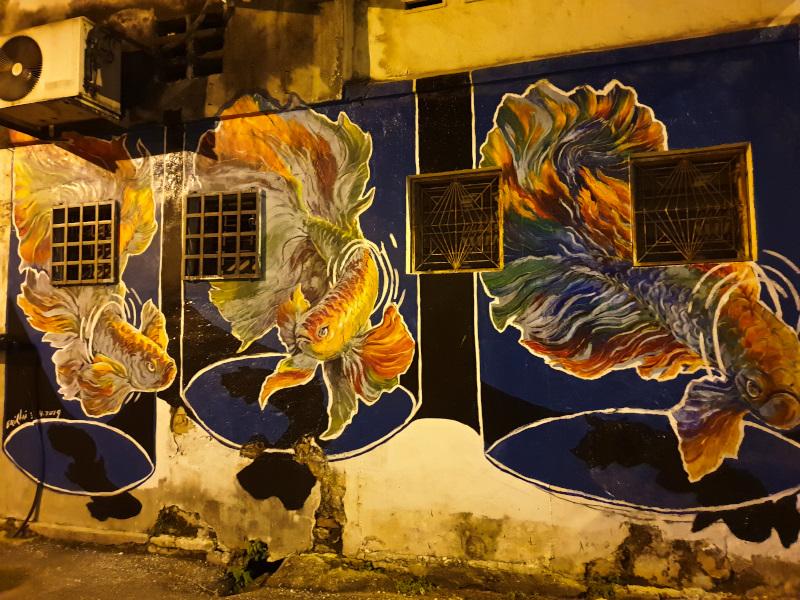 Amazing streetart in Ipoh