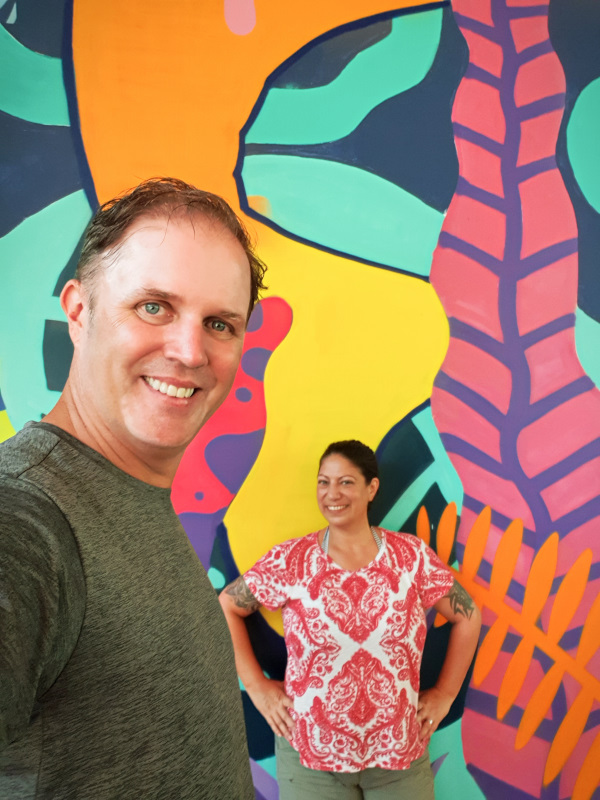 Us in Bintan in Indonesia