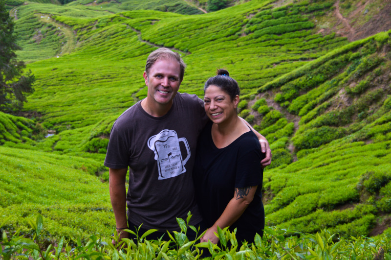Us in the tea fields n Cameron Highlands