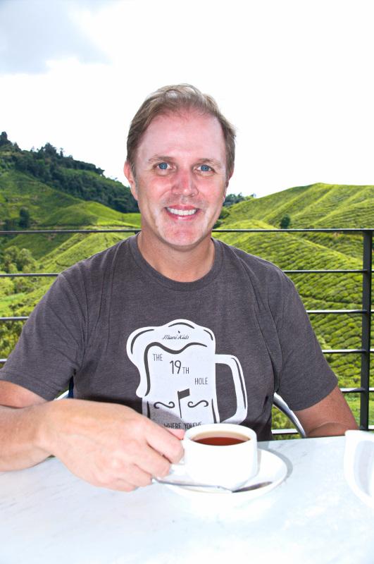 Enjoying a cup of tea at BOH