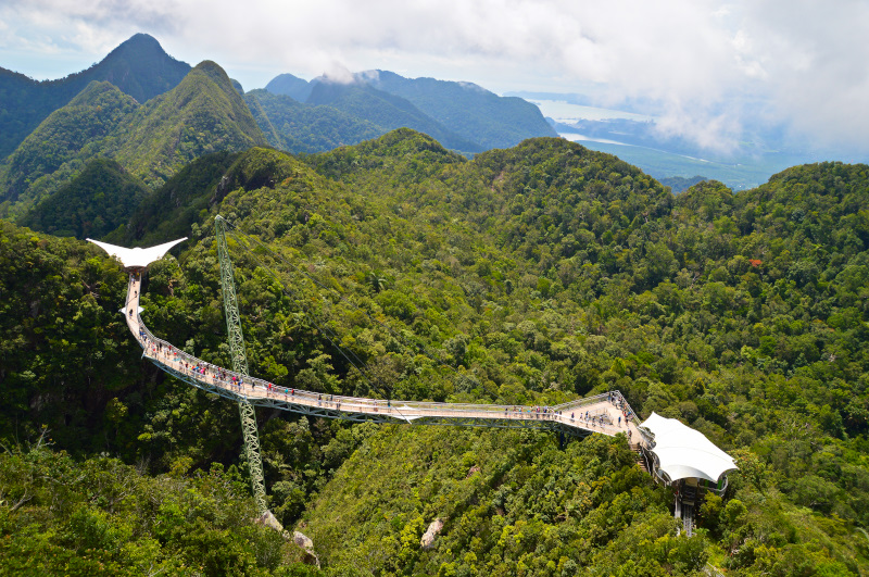 The triangular viewing platforms, Sky Bridge Langkawi