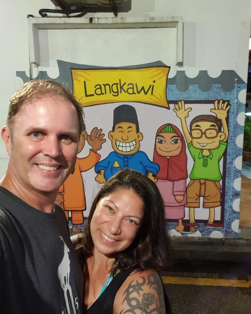 Us in Langkawi in Malaysia