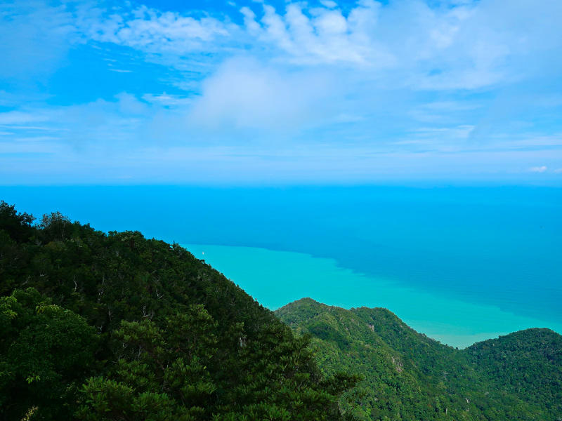 The view from the Sky Bridge in Langkawi