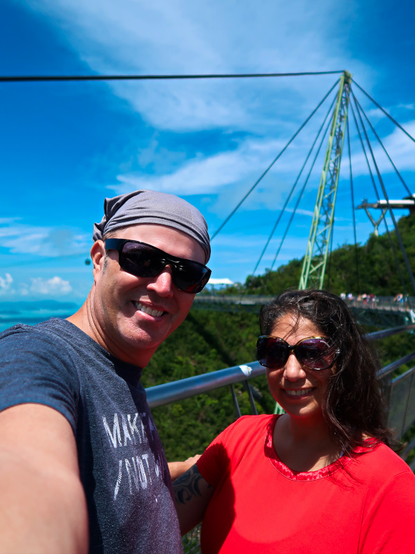 Enjoying the view at the Sky Bridge in Langkawi