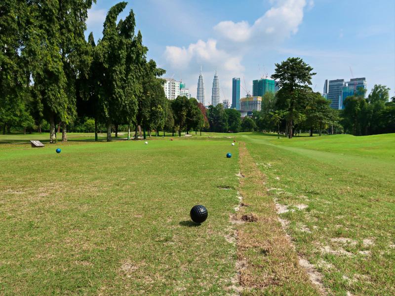 Opening tee shot at Royal Selangor