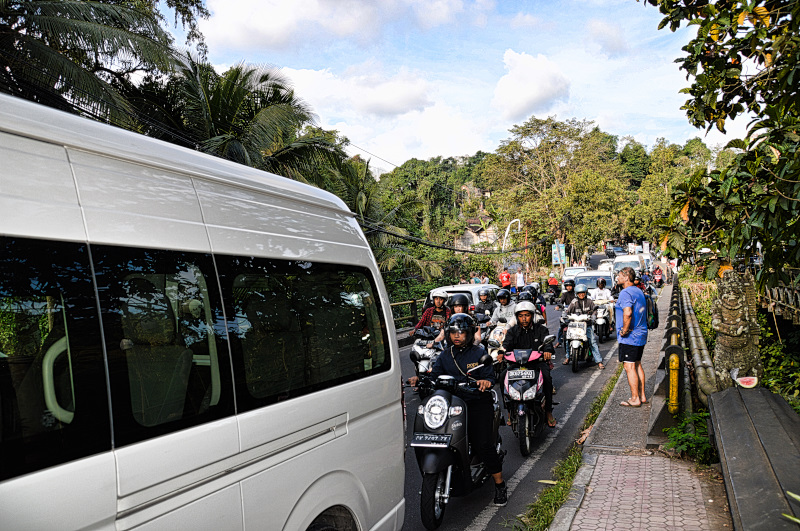 Slow Traveling in Ubud Some Traffic