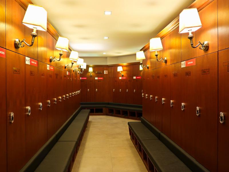 The Mines Resort locker room