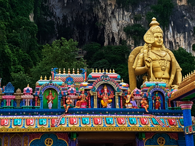 Traveling in Kuala Lumpur, Batu Caves in Malaysia