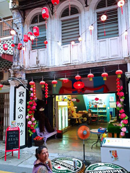 Where I had my first Laksa, Ipoh Oldtown Mein erstes Laksa in der Altstadt von Ipoh, Malaysia