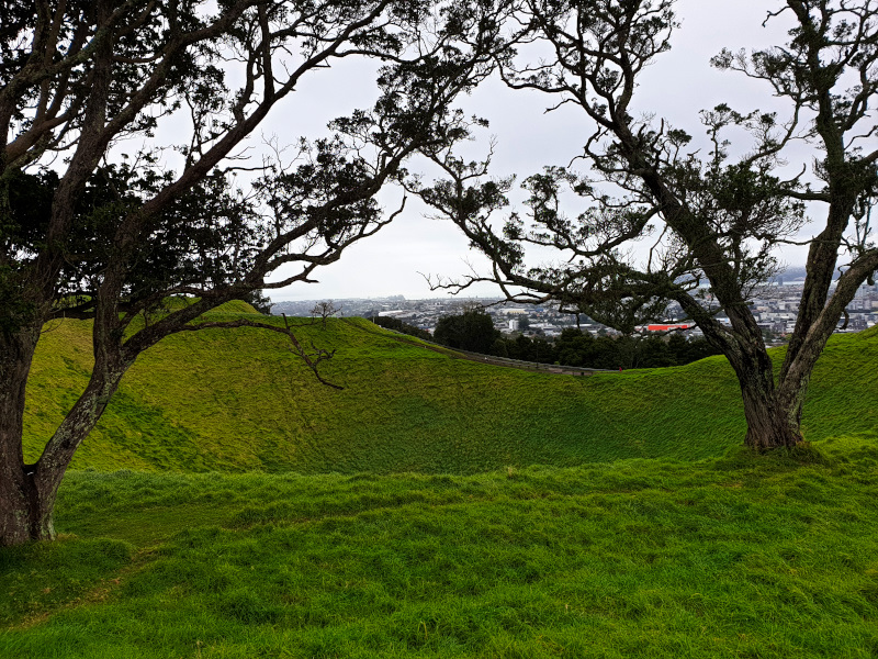 Looking at Mount Eden and the City