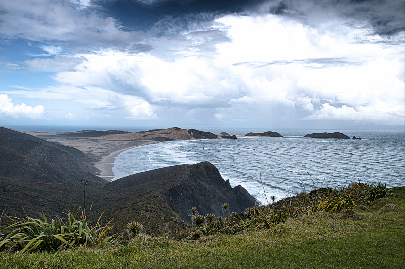 The Sand Dunes to the left of Cape Reinga