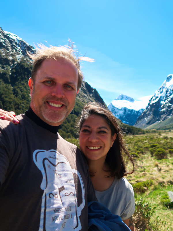 Enjoying the stops on our way to Milford Sound