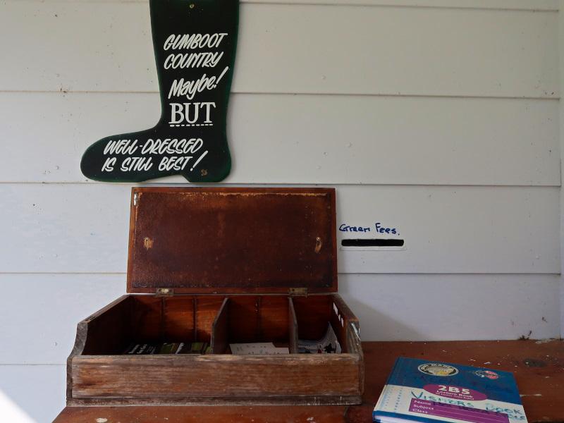 Honesty Box at Houhora Golf Club