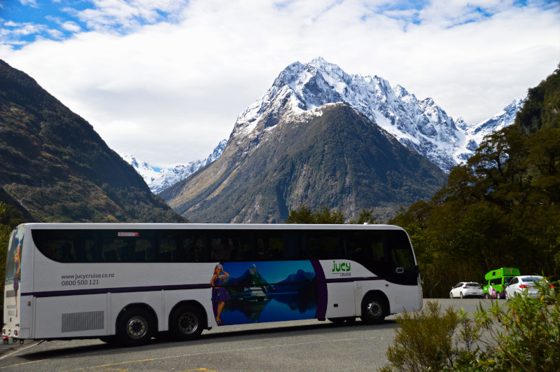 JUCY Premium Coach was part of our JUCY Milford Sound Experience