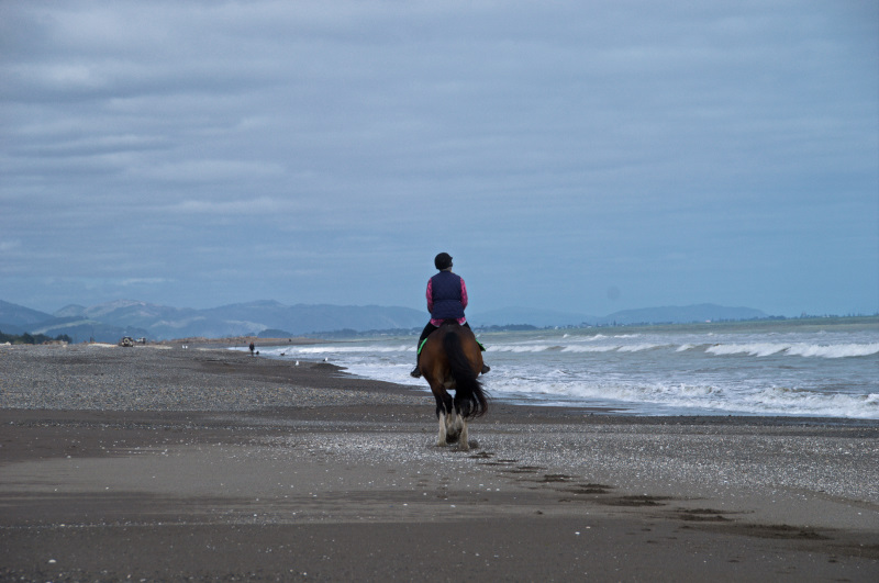 Deserted Otaki Beach