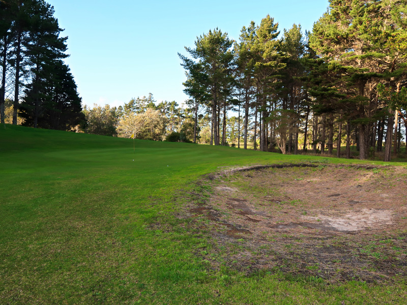 The fifth hole at Houhora Golf Club