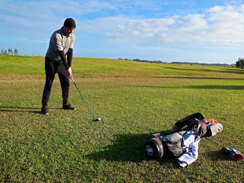 Third Hole at Houhora Golf Club