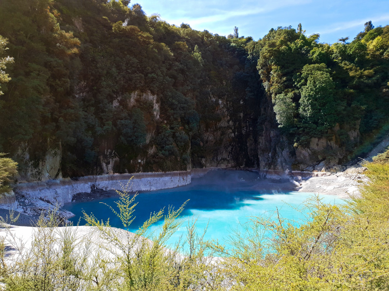 On our route: Waimangu Volcanic Valley