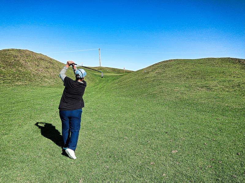 Approach shot on Tom Thumb at Waverley Golf Club