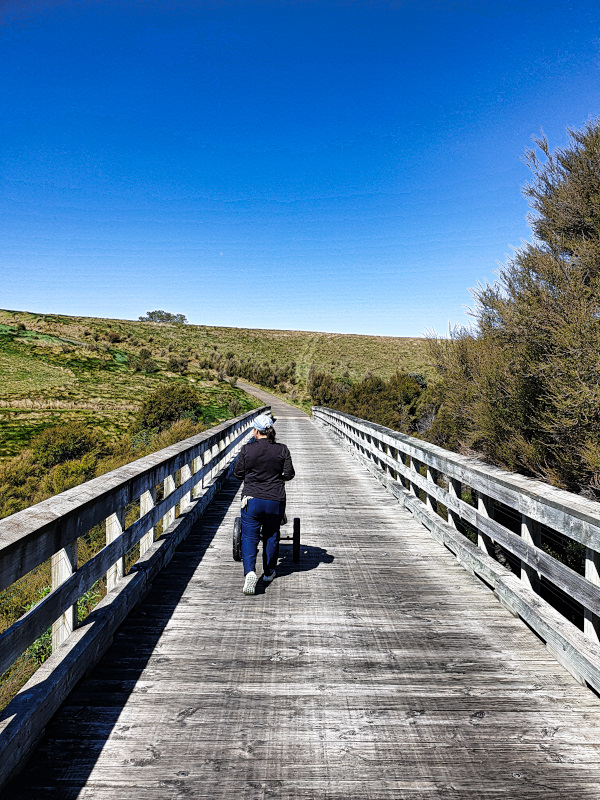 Crossing the Gulley at Cape Kidnappers