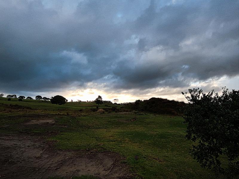 Darkening skies at Waipu Golf Club