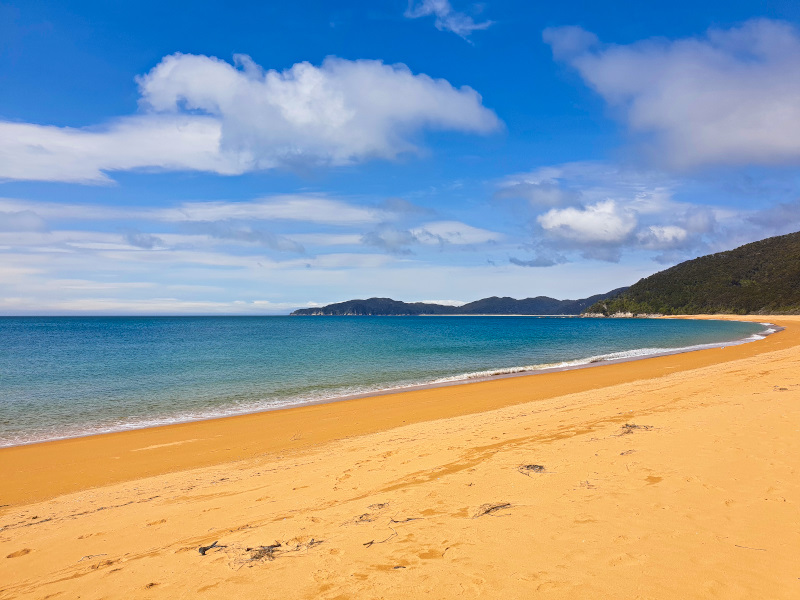 Golden Bay in Abel Tasman Nationalpark The best campgrounds on the South Island of New Zealand