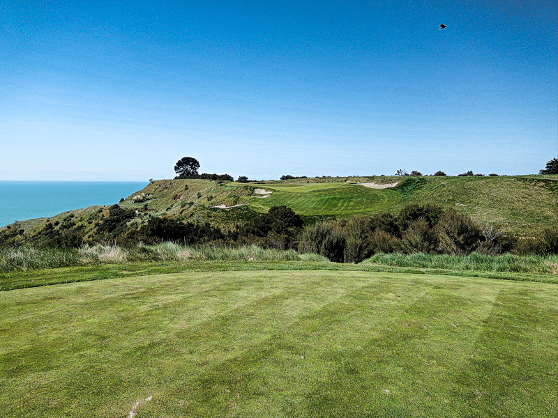 Gulley at Cape Kidnappers