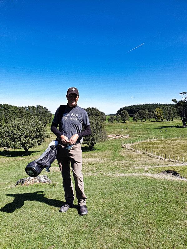 Happy Golfer at Waverley Golf Club