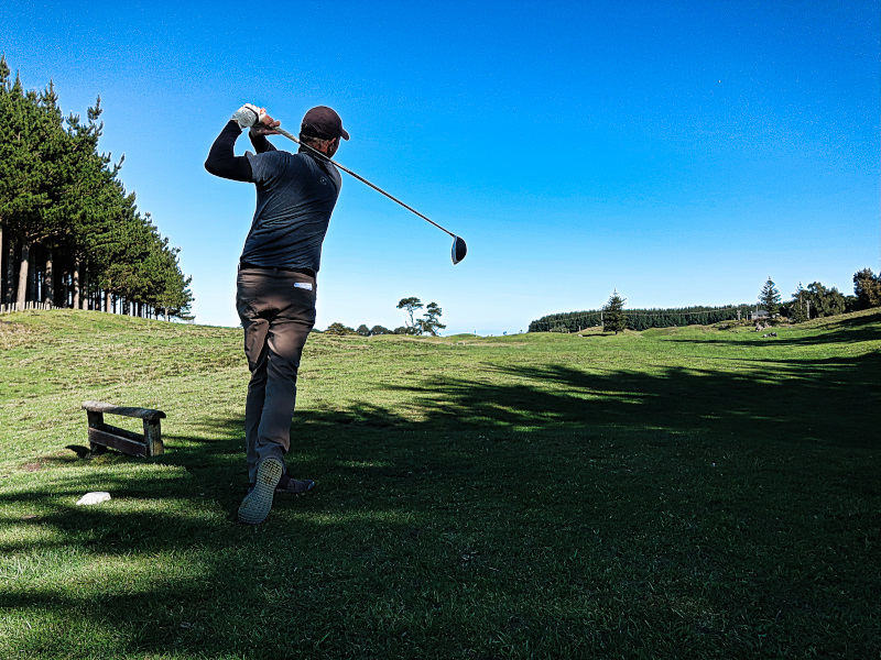 Teeing off at Waverley Golf Club