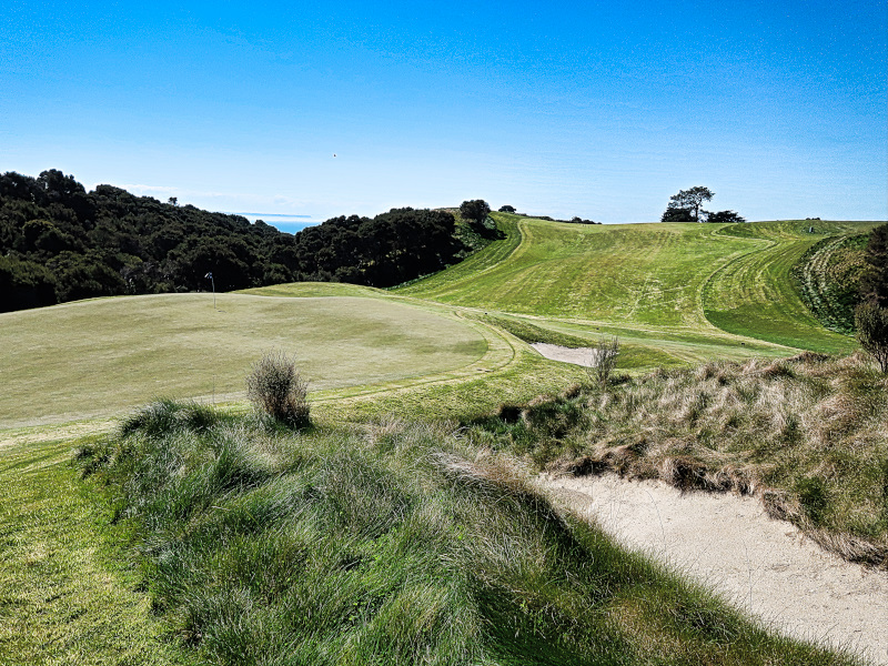 The green at 14 Flags Cape Kidnappers