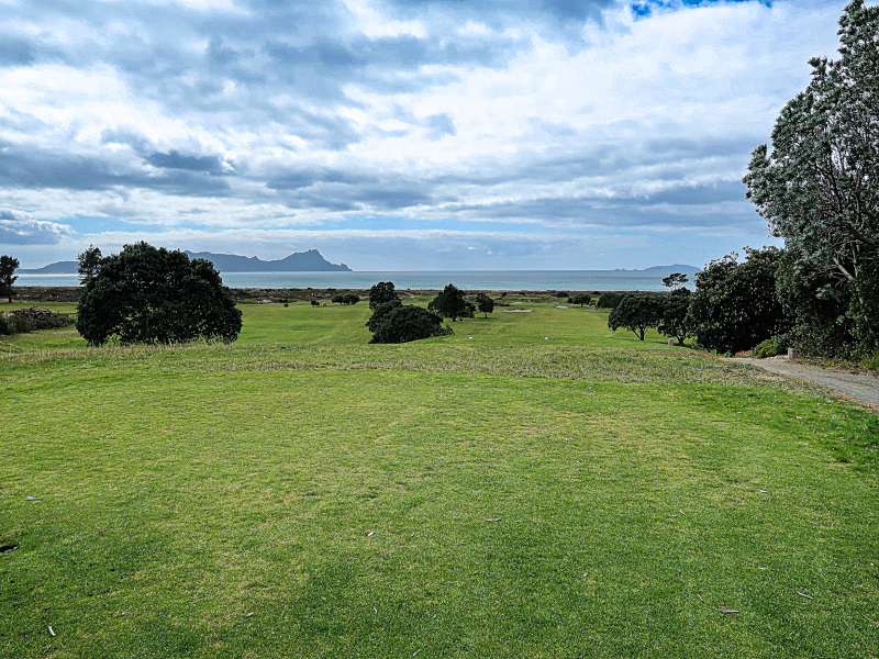 The view from sixteen at Waipu Golf Club