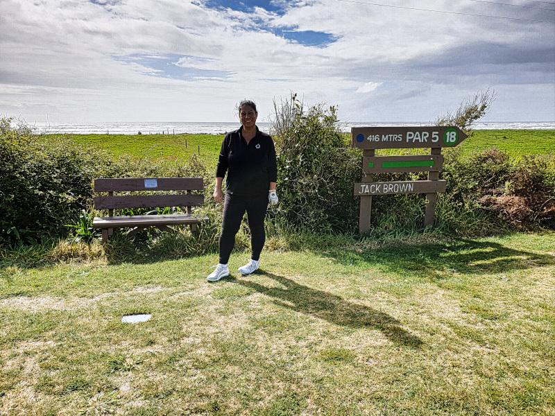 Menekse and Jack Brown at Westport Golf Club