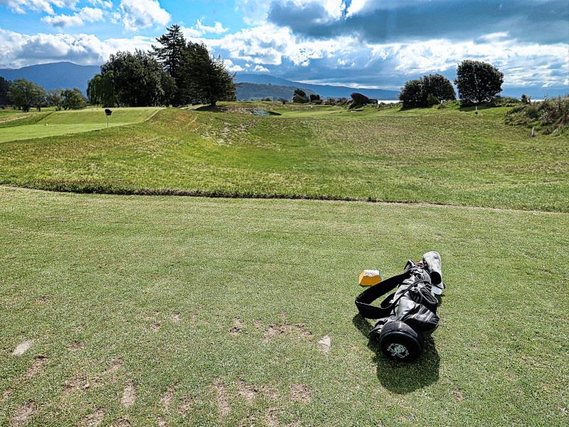 Hollow tee at Takaka Golf Club