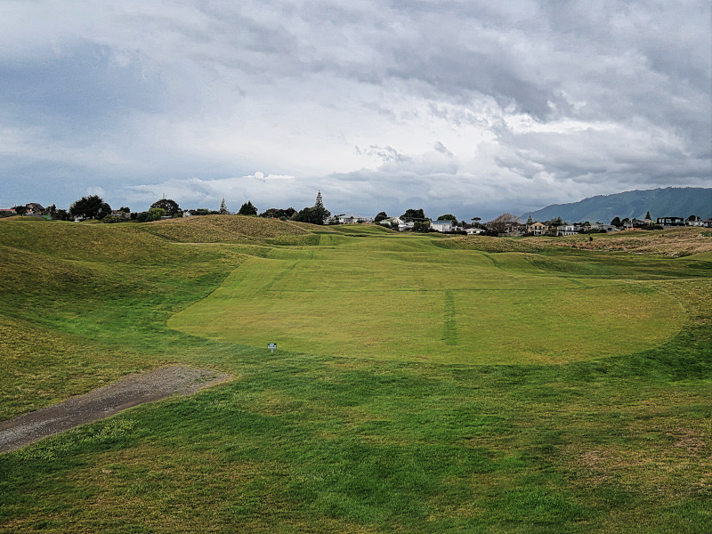 Hollows tee shot at Paraparaumu Beach Golf Club