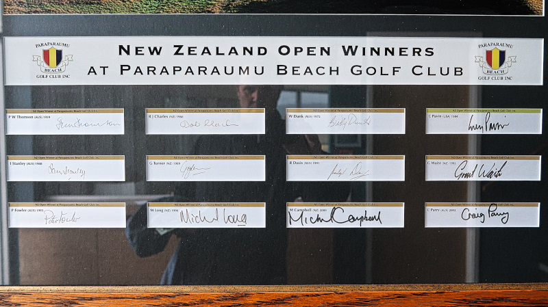 NZ Open Winners at Paraparaumu Beach Golf Club
