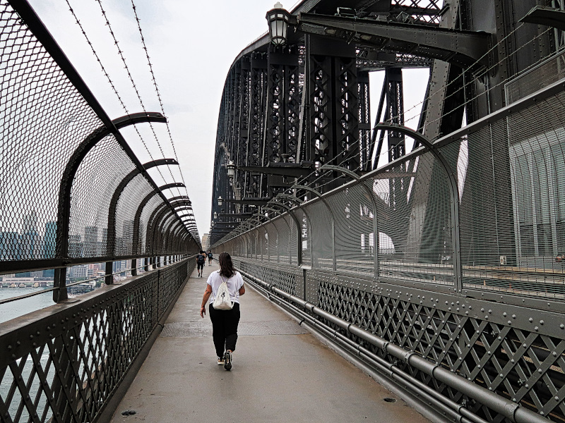 Our walk over the Harbour Bridge
